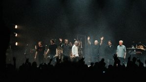 GUY PRATT, STEVE DI STANISLAO, PHIL MANZANERA, RICK WRIGHT, DAVID GILMOUR, JON CARIN AND DICK PARRY  <span>Photo by Polly Samson</span>