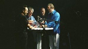 GUY PRATT, DICK PARRY, DAVID GILMOUR AND PHIL MANZANERA  <span>Photo by Polly Samson</span>